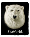 Sea World Throw Blanket - Polar Bear - Face