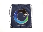 Sea World Cinch bag - Shamu - One Ocean - Navy