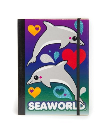 Sea World Journal Notebook - Dolphins and Hearts
