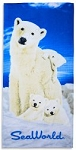 Sea World Beach Towel - Polar Bear and Cub