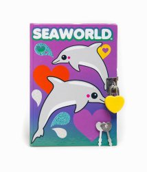 Sea World Diary - Dolphin Lock Diary - Purple