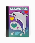 Sea World Sketchbook - Dolphin and Hearts