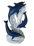 Sea World Figurine - Four Blue and White Dolphins - Sand Reef