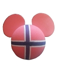 Disney Antenna Topper - Mickey Mouse Flag - Norway