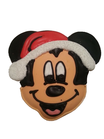 Disney Parks Cookie - Gingerbread Cookie - Santa Mickey Mouse