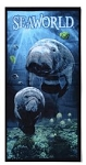 Sea World Beach Towel - Manatee Mom and Baby