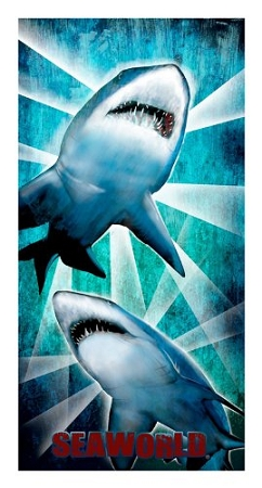 Sea World Beach Towel - Sharks - Beams