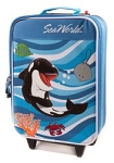 Sea World Rolling Luggage - Shamu and Friends - Blue