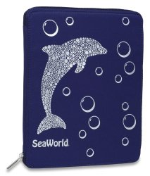 Sea World Table Case - Dolphin Bling - Navy