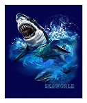 Sea World Throw Blanket - Shark Design