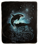 Sea World Throw Blanket - Shamu - Fireworks