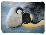Sea World Throw Blanket - Penguin - Mom and Baby