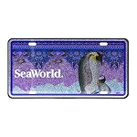 Sea World License Plate - Penguin with Baby
