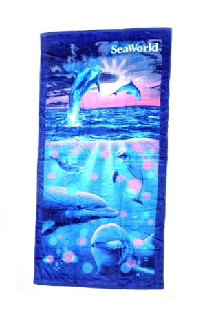 Sea World Beach Towel - Dolphin - Dots