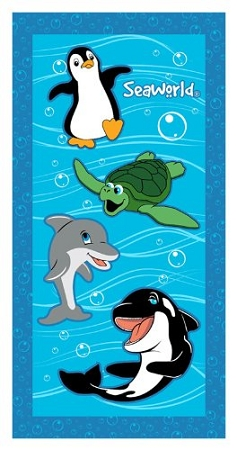 Sea World Beach Towel - Sea World Party Animals