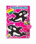 Sea World Diary - Whale Lock Diary - Pink