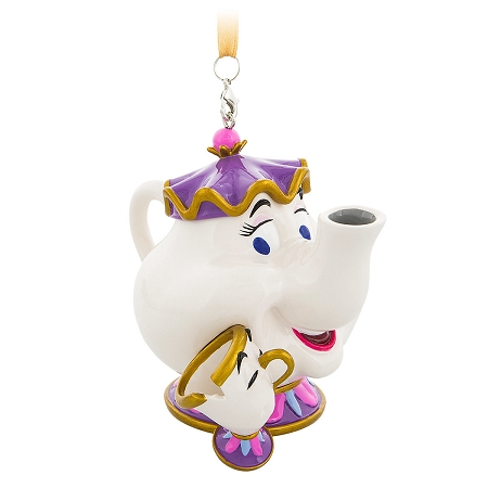 disney christmas ornament mrs potts and chip beauty and the beast - Disney Beauty And The Beast Christmas Decorations