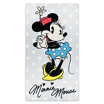 Disney Beach Towel - Minnie Mouse Polka Dot