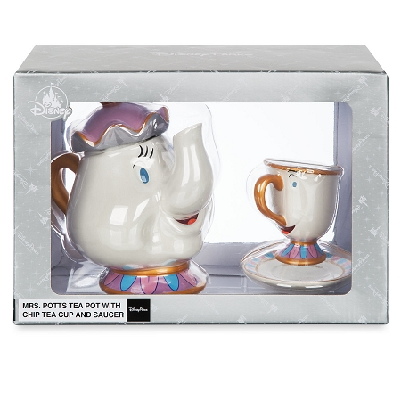 Disney Tea Pot Set Mrs Potts And Chip Beauty And The Beast