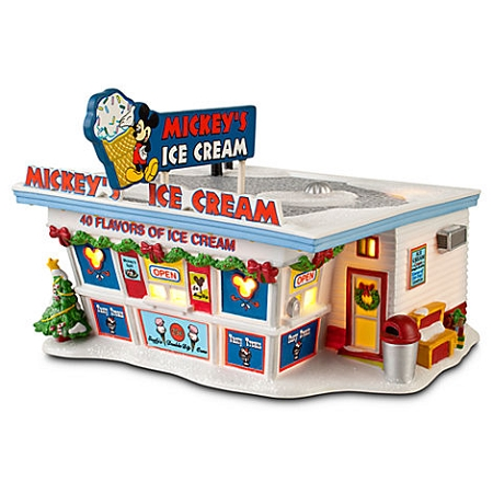 Disney Christmas Village - Mickey's Ice Cream Shop - Light up Building