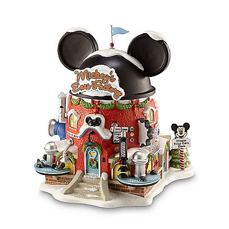 Disney Christmas Village - Mickey's Ears Factory - Light Up Building