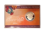 Disney Collectors Coin - Epcot Food and Wine Festival - 2014