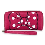 Disney Wallet - Minnie Mouse Bow Wristlet Wallet - Pink