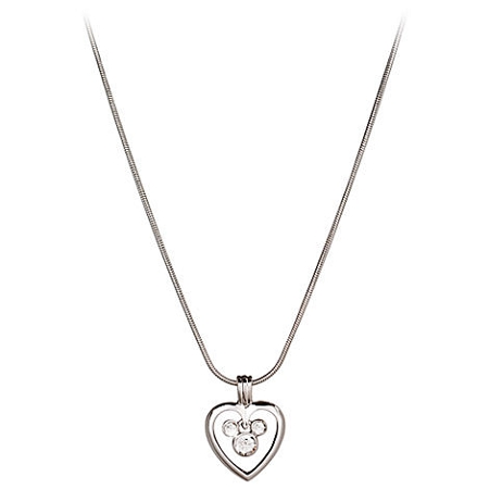 Disney Arribas Necklace - Mickey Mouse Icon and Heart