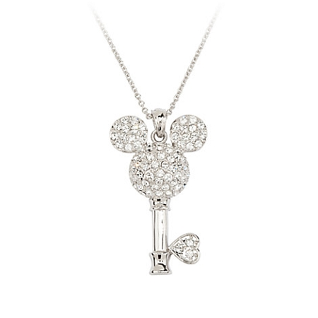 Disney Arribas Necklace - Mickey Studded Crystal Key