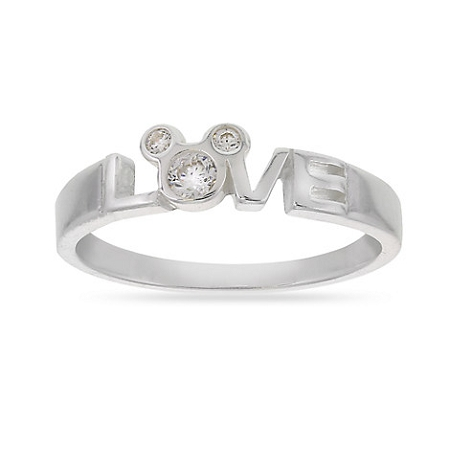 Disney Ring - Mickey Mouse Icon - LOVE - Silver