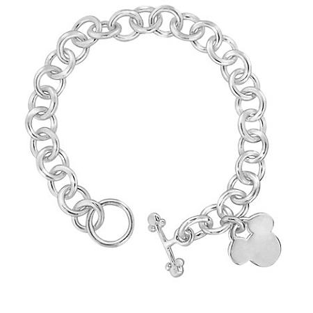 Disney Charm Bracelet Sterling Silver Mickey Mouse