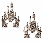 Disney Rebecca Hook Earrings - Mickey Mouse Castle - Silver
