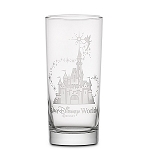 Disney Arribas Glass Tumbler - Tinker Bell and Castle - Personalizable