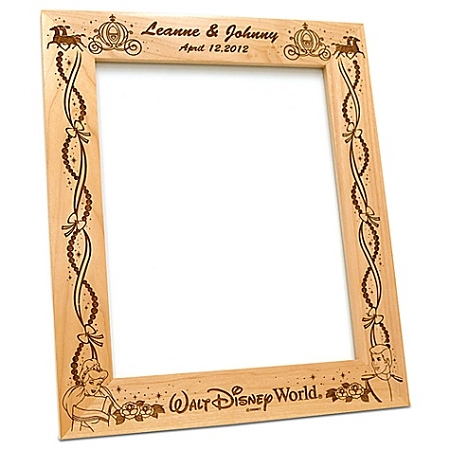 Disney Wood Photo Frame - Cinderella Wedding - by Arribas - 4'' x 6''