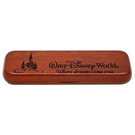 Disney Arribas Pen Case - Personalizable Rosewood Walt Disney World Double Case