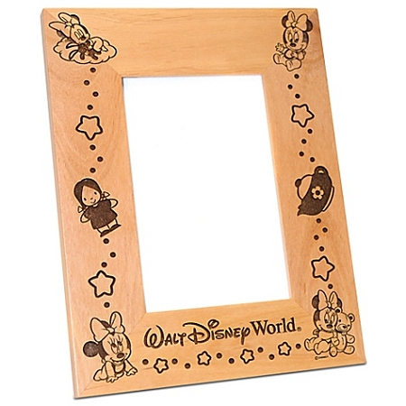 Disney Wood Photo Frame - Baby Minnie Mouse - by Arribas - 4'' x 6''