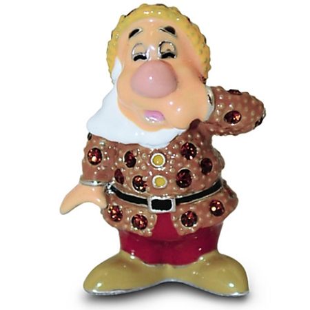 Disney Arribas Figurine - Sneezy Dwarf - Jeweled Mini