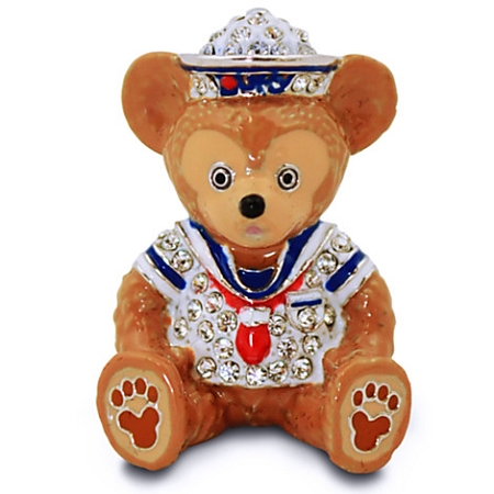 Disney Arribas Figurine - Duffy the Disney Bear - Jeweled Mini