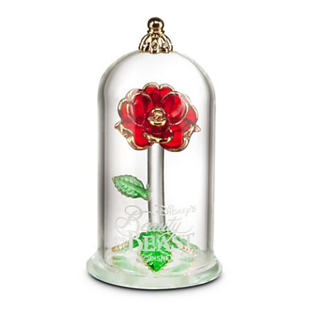 Disney Glass Sculpture - Beauty and the Beast Enchanted Rose - Small