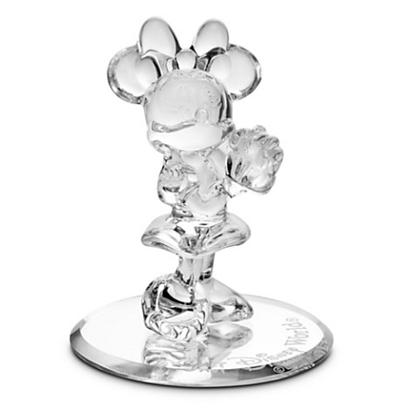 Disney Arribas Glass Figurine - Minnie Mouse