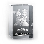Disney Laser Cube - Mickey and Minnie Mouse Wedding - By Arribas