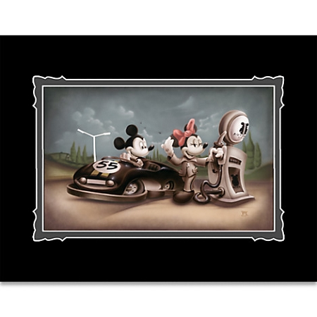 Disney Art Print - Mickey and Minnie Mouse - Service with a Smile