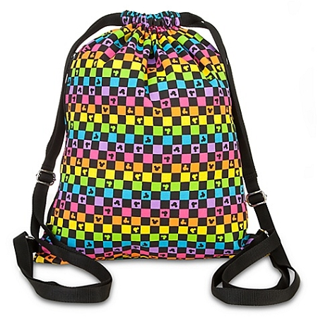 Disney Cinch Bag - Checkered Mickey Mouse