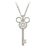 Disney Arribas Necklace - Mickey Mouse Icon Key - Flower
