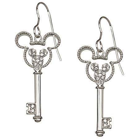 Disney Arribas Earrings - Crystal Key Mickey Mouse -- Mouse Icon