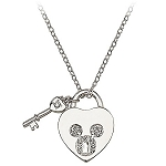 Disney Arribas Necklace - Mickey Mouse Heartlock and Key