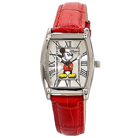 Disney Wrist Watch - Classic Red Crocodile Mickey Mouse for Adults