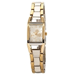Disney Wrist Watch - Two Tone Rectangular - Mickey Mouse Link