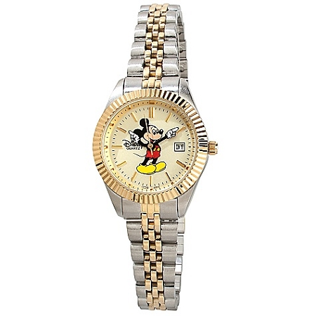 Disney Wrist Watch - Two-Tone Hands Mickey Mouse  -- Small