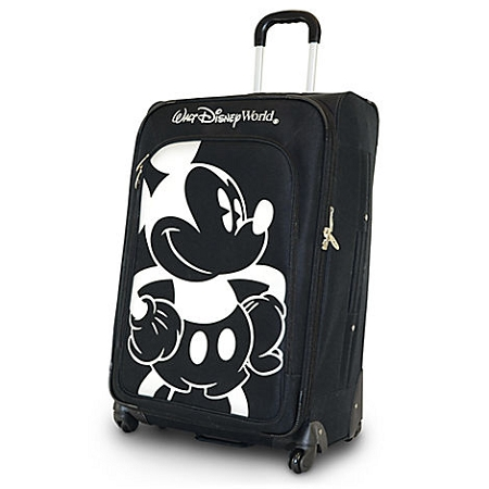 Disney Rolling Luggage - Mickey Mouse Design - Black and White - 28